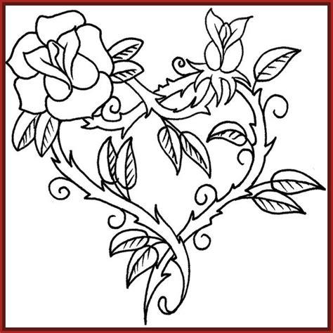 imagenes de corazones y rosas para dibujar imagenes de rosas para dibujar a lapiz archivos imagenes