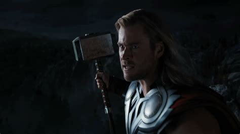 thor swinging hammer the mighty thor gets ready to swing his hammer the