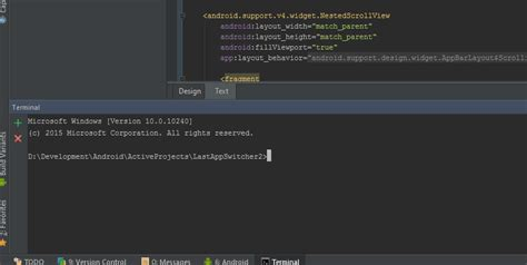 Android Studio Terminal Tutorial | can t type into android studio s built in terminal stack
