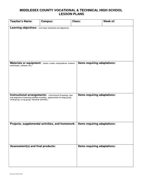 the 25 best blank lesson plan template ideas on pinterest