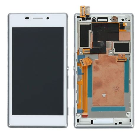 Hp Sony M2 D2302 lcd with touch screen for sony xperia m2 dual d2302 white by maxbhi