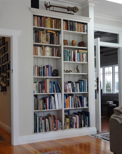 stephens painted inbuilt bookcase