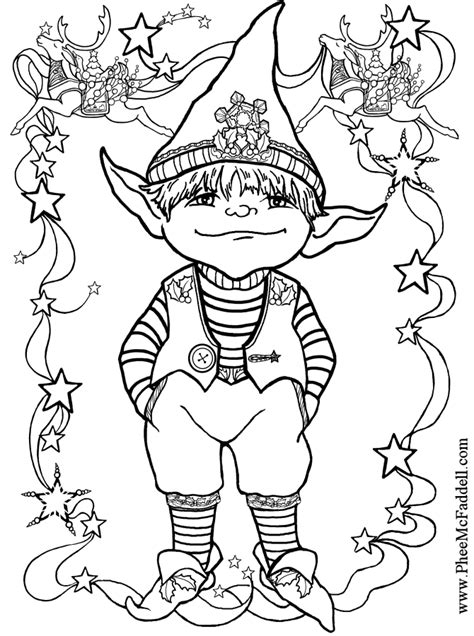 Small Elf Coloring Page | sketch of dark elves coloring pages