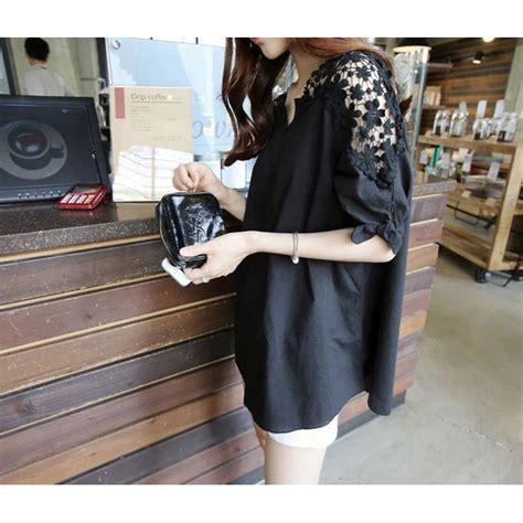 Blouse Wanita Size Xl blouse wanita korean style size xl black