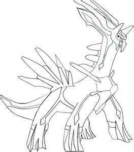 Dialga Coloring Pages sketch template