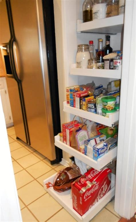 Diy Kitchen Pull Out Shelves by Pull Out Pantry Shelves Diy Projects