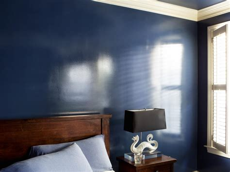 painting on wall how to add a wet effect to walls with glossy paint hgtv