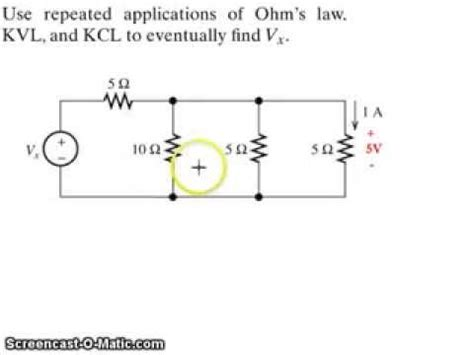 kvl parallel resistors exle application of kirchhoff s voltage kvl current kcl and ohm s