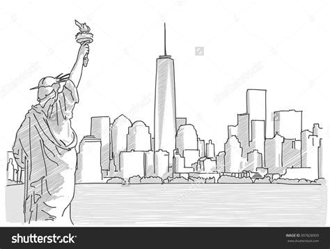 new york drawings 0571326919 new york city skyline drawing drawing sketch picture