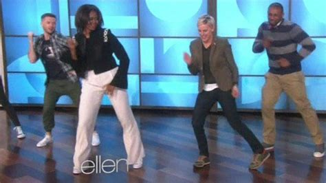 dick swing dance michelle obama shows off her dance moves with host ellen
