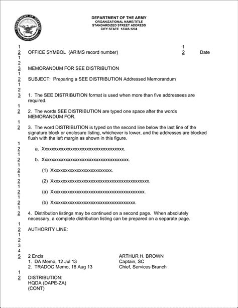 army memorandum template ms word