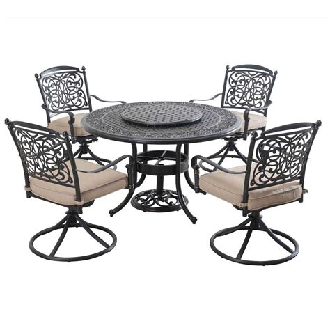 sunjoy patio furniture sunjoy renaissance 7 patio dining set with beige