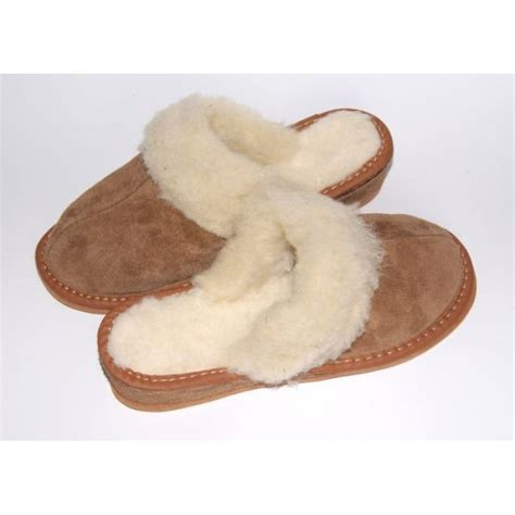 sheep wool slippers brown suede slippers with sheep s wool s