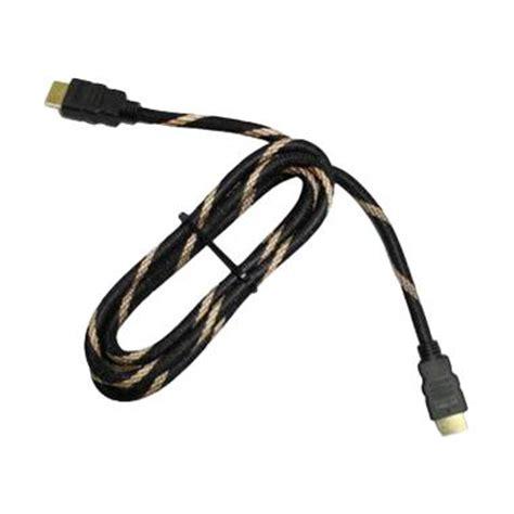 Kabel Hdmi 5m Jaring Hdmi To Hdmi Vikento jual nyk 3d plate gold kabel hdmi 1 5 m harga