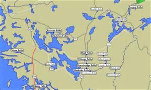 map of waterfalls in muskoka