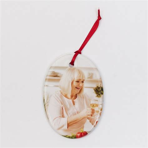 personalised photo christmas tree decorations ceramic