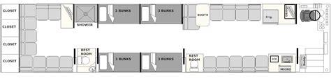 prevost rv floor plans 2002 prevost xlii entertainer bus for sale staley bus sales