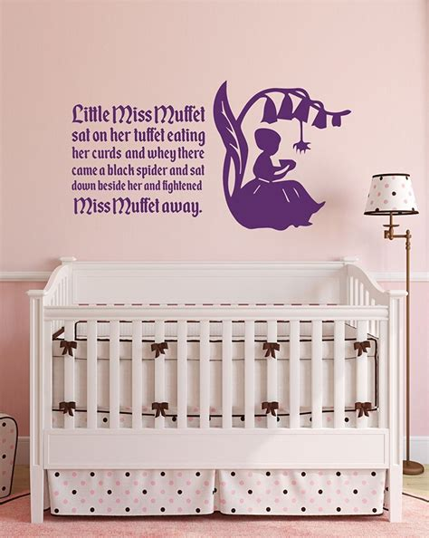 Nursery Rhyme Wall Decals Nursery Rhyme Wall Decals Miss Muffett Customvinyldecor