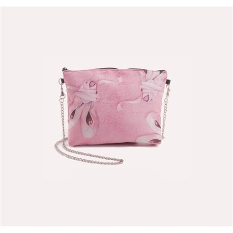 small pink shoes bag with chain dancewear universe