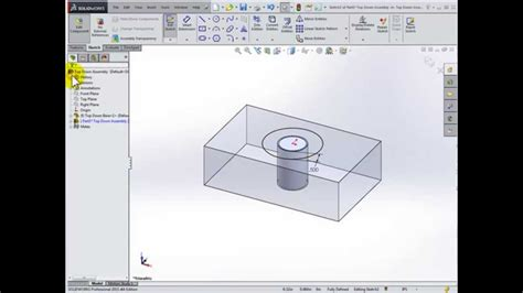solidworks tutorial top down design top down design using solidworks 2016 youtube