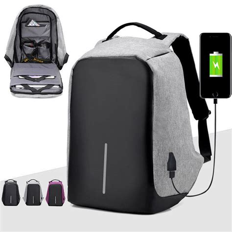 Anti Thief Backpack anti theft laptop backpack water repellent usb port xd
