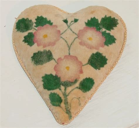 pin cusion heart shaped pin cusion olde hope antiques