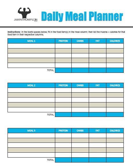 printable meal plan pdf free printable meal plan template meal planning