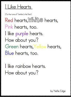 valentines day poems for kindergarten great s fluency poem use with conversation