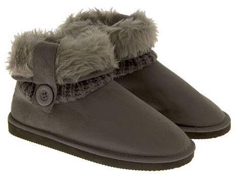 slipper boots coolers warm faux fur slippers boots comfy winter