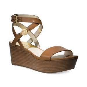 michael kors michael jalita charm platform wedge sandals
