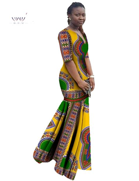 african print clothing for ladies african print trumpet mermaid dress thedashiki com