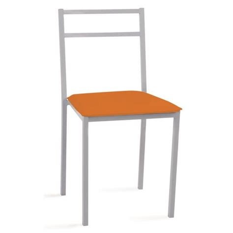 Chaise Metalique by Chaise Orange Metalique 420 X 475 X 810 Mm Achat Vente