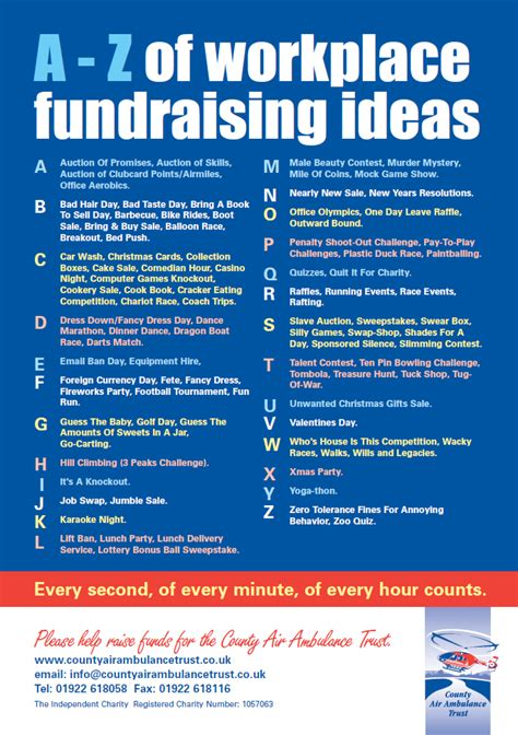 fundraiser ideas workplace fundraising ideas list of ideas for