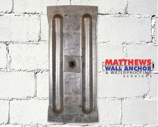 basement wall anchor plates foundation repair matthews wall anchor waterproofing services