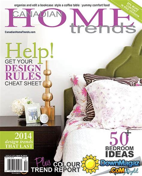 free home decor magazines canada canadian home trends winter 2014 187 pdf