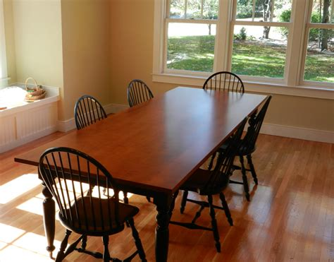maple dining room furniture tiger maple dining room table w turned legs hawk ridge