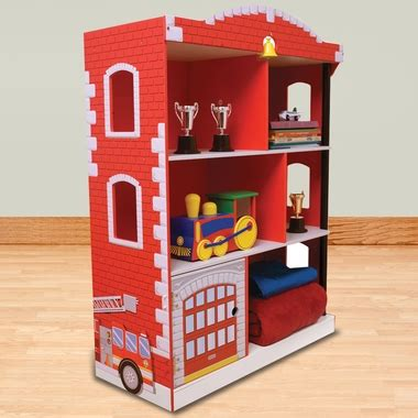 firehouse bookcase 76026 by kidkraft kid s bookcases