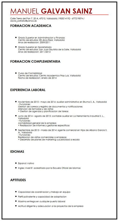 Modelo Curriculum Actual Modelo De Cv Libre Curriculum Vitae Builder