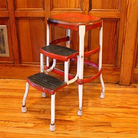 Kitchen Stool With Pull Out Steps by Vintage Stool Step Stool Kitchen Stool Cosco By Oldcottonwood