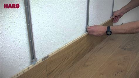 Laminat Auf Wand by Installation For Quot Floor On The Wall Quot Haro