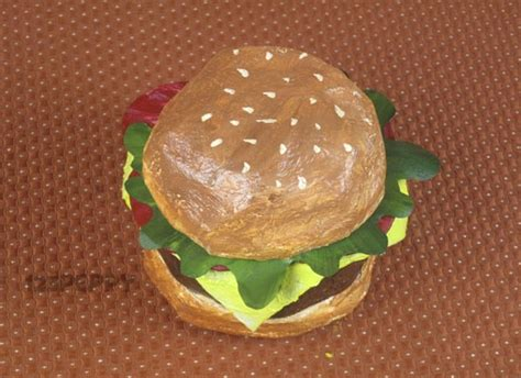 How To Make A Paper Hamburger - crafts project ideas with tutorials 123peppy
