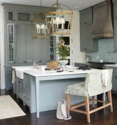Williams Kitchen by Green Kitchen Cabinets With Blue Fan Tile Backsplash