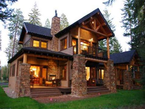 Log Barn Homes Timber Lodge Style Homes Mountain Lodge Mountain Log House Plans