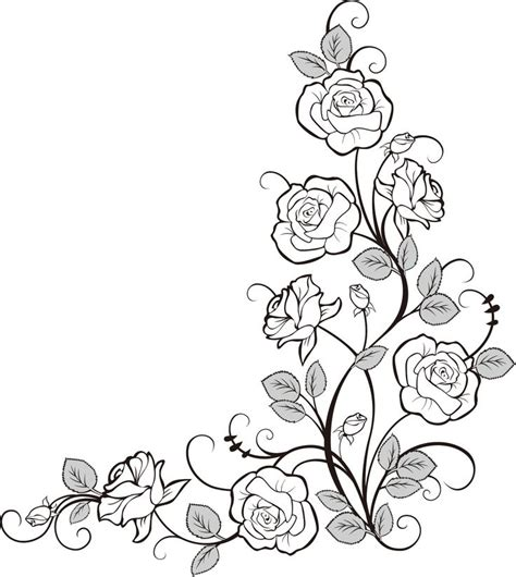 coloring pages of flower borders 365 best edges frames borders and mandalas images on
