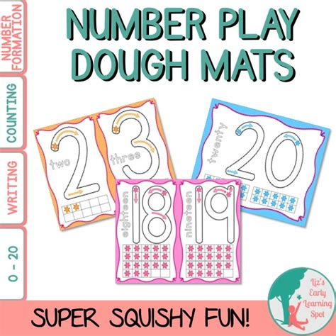 Playdough Mats Numbers by Number Play Dough Mats Liz S Early Learning Shop
