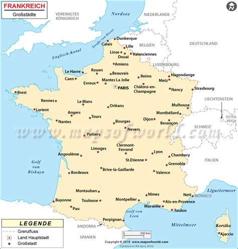 Städte in Frankreich   Frankreich Städte Karte