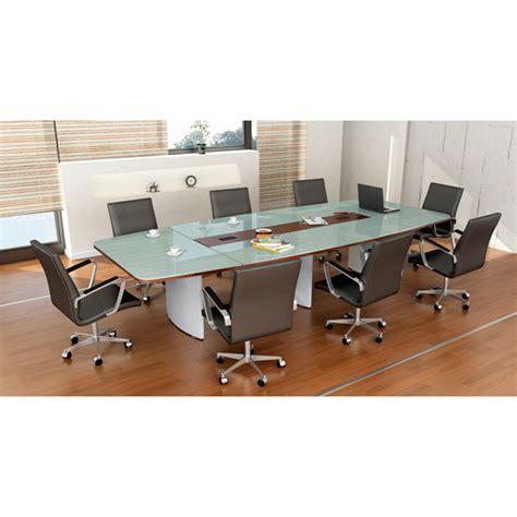 mesa de juntas g12 tub mesa de juntas consejo con cubierta de melamina y cristal gcm1
