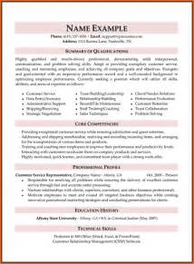 Customer Service Resumes Exles Free by Exles Of Customer Service Resume Resume Format Pdf