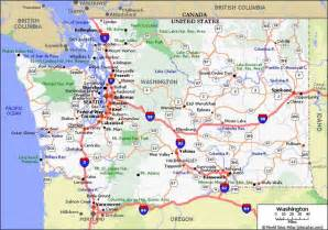 Washington State Highway Map by Seattle Fire Boats