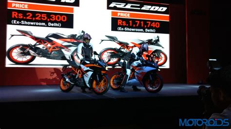 Ktm Rc 200 Launch In India New 2017 Ktm Rc390 And Rc200 Launched In India Priced At